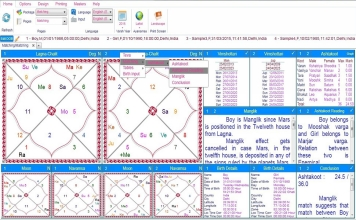 Leostar Home (Best Astrology Software), Horoscope Matching