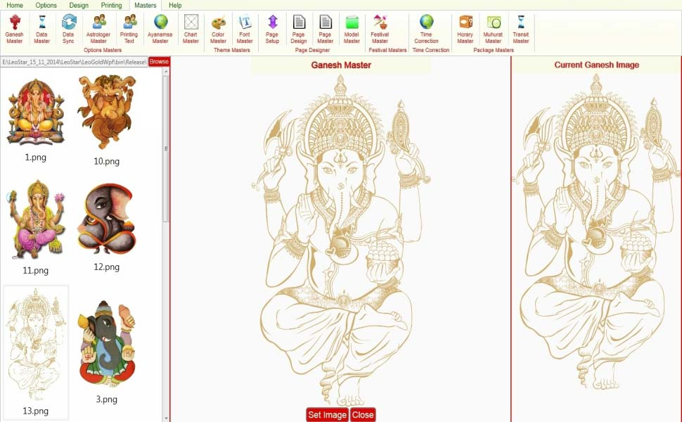 Leostar Astrological Software, Leostar master, Ganesh Master