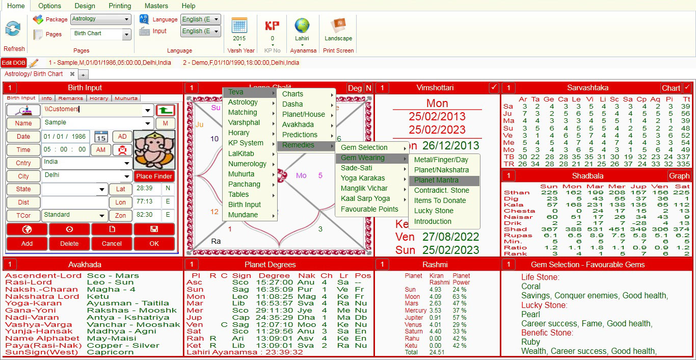 free red book astrology software