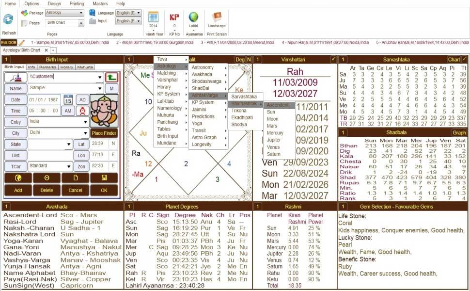 Leostar(Horoscope) Astrology, Leostar Birth Chart