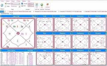 Leostar Home (Best Astrology Software) Teva, Shodashvarga