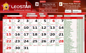 Leostar Professional (Best Astrology Software) | Page Option