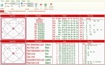 Leostar Professional (Best Astrology Software) | Krishnamurti (K.P. System)