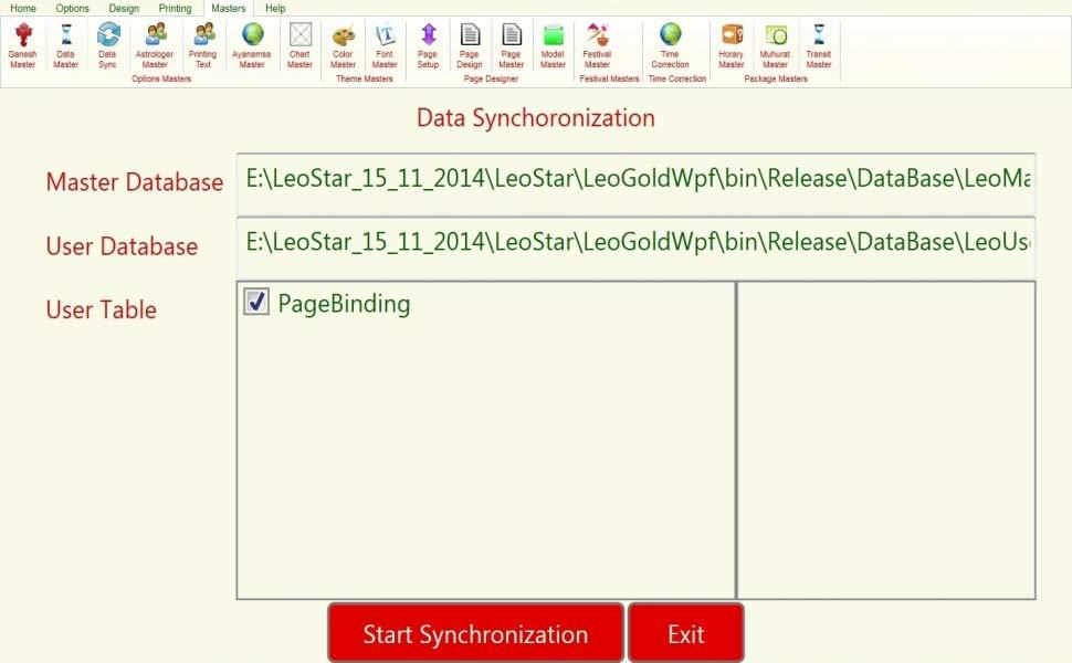 Leostar Astrological Software, Leostar master, Data  Synchronization