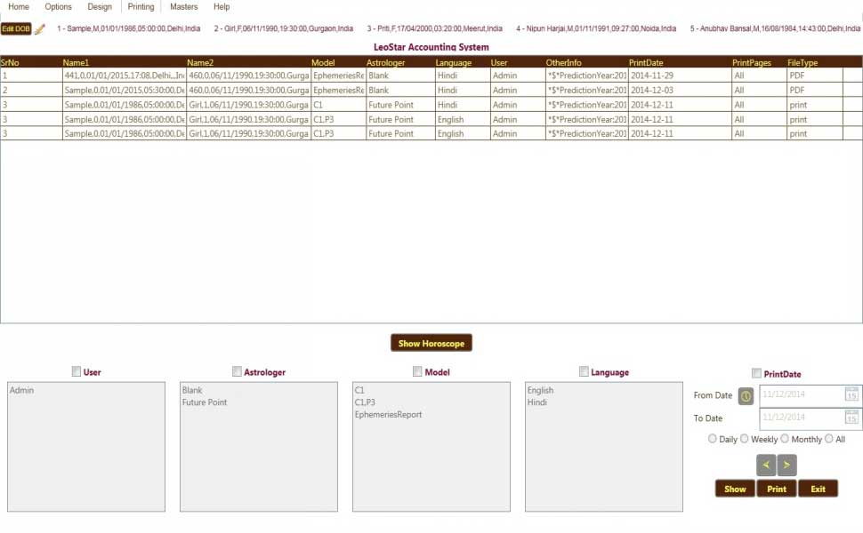Leostar Astrology Basic, Leostar Astrology Advanced, Leostar Accounting