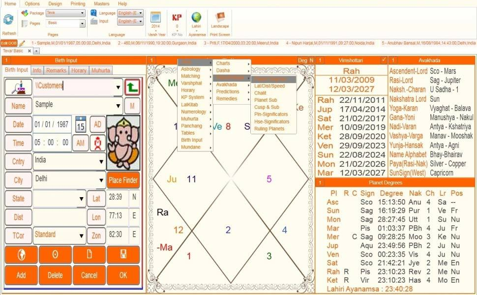 Leostar(Kundli Software) Teva, Leostar Standard 2