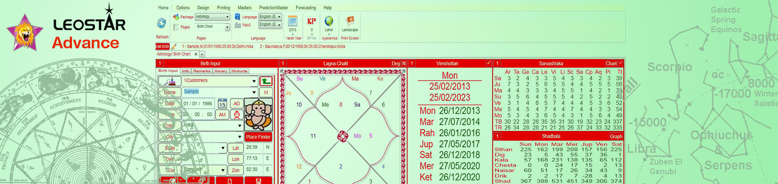 Advanced module form more astrological predictions &  calculations